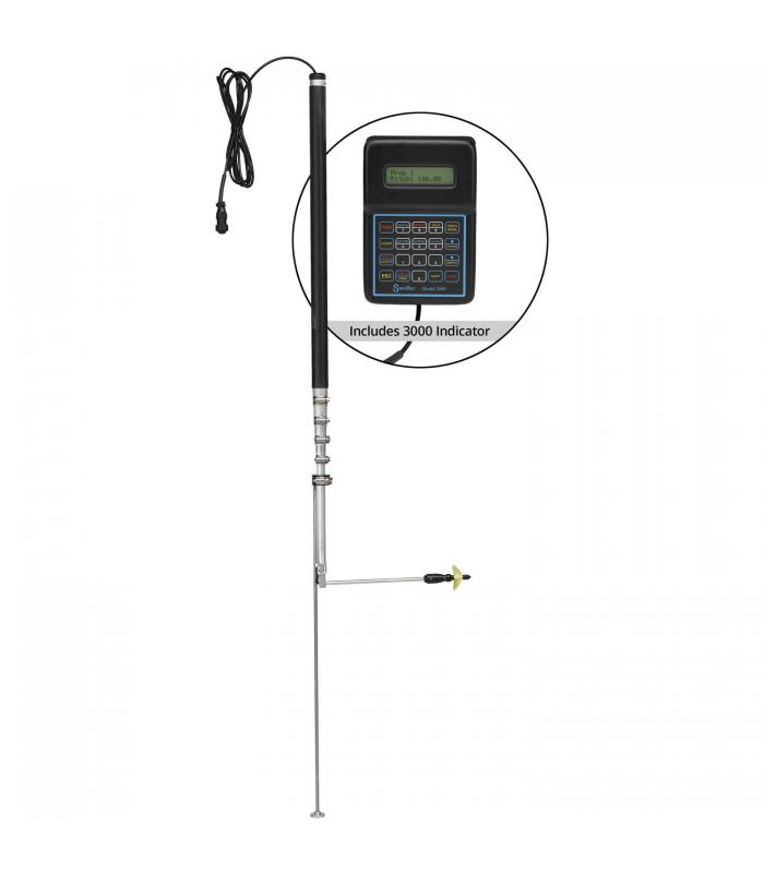 Swoffer Instruments 3000 Series [3000-STDX] Current Velocity Meter with 2.5 ft. - 9.5 ft. Telescoping Wand